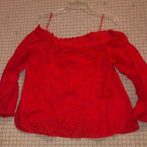 JCrew strapless blouse